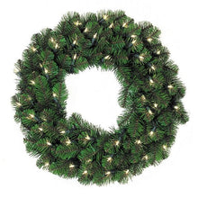 "Load image into Gallery viewer, 72"" Pine Lit Christmas Wreath, 600Lt 
