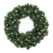 "Load image into Gallery viewer, 24"" LED Pine Lit Christmas Wreath, 50Lt 