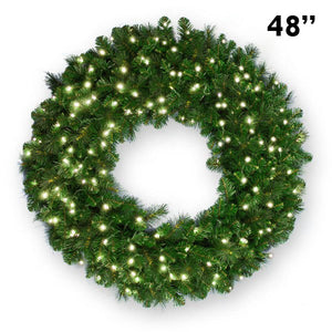 "48"" LED Lighted Christmas Wreath - 250Lt"