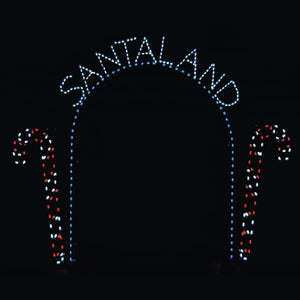 13' x 12' Santaland Arch with Candy Canes