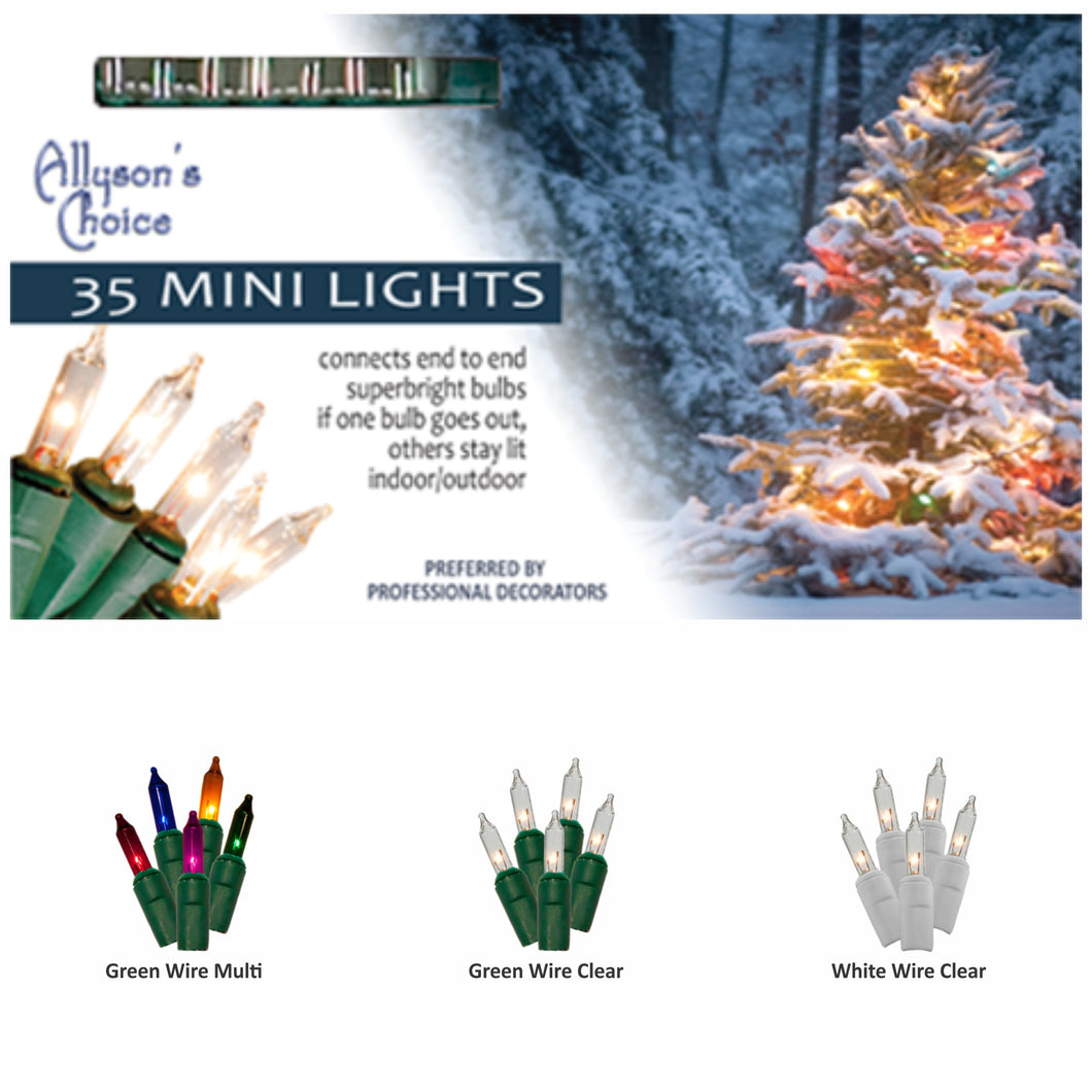 8ft Incandescent Mini Light Set 2.75