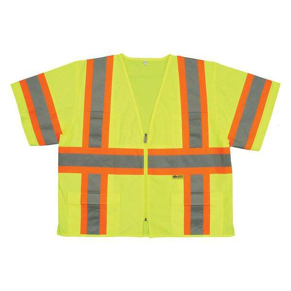 ANSI Class 3 Vest - Lime - Contrasting Stripes