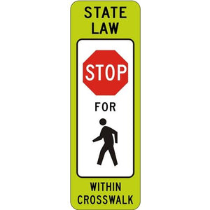 State Law Stop For Pedestrians Within Crosswalk