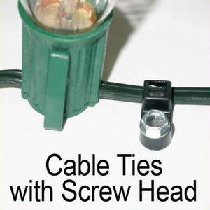 "7"" Cable Ties with Screw Head"