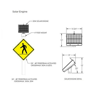 LED Enhanced Crosswalk Sign | AB-5800