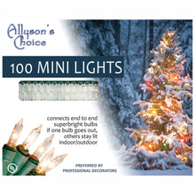 "Load image into Gallery viewer, 23ft Incandescent Mini Light Set 2.75"" Spaced"