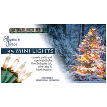 "Load image into Gallery viewer, 8ft Incandescent Mini Light Set 2.75"" Spaced"