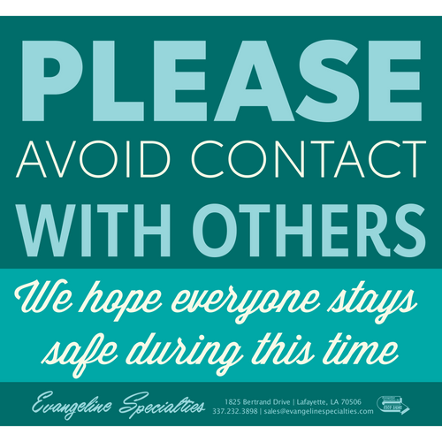 Avoid Contact - Printable Sign Pattern