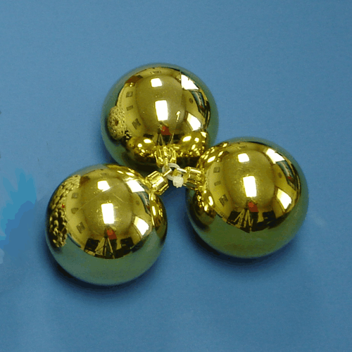 Gold Ball Cluster {Set of 3 – 82mm}