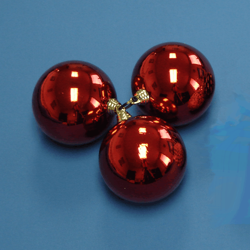 Red Ball Cluster {Set of 3 – 82mm}