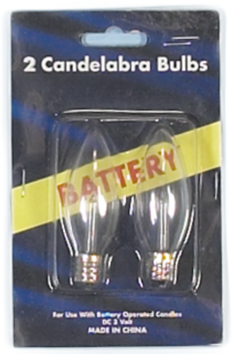 2 PK Battery Operated Candle Replacement Bulbs -  (PK - 25)