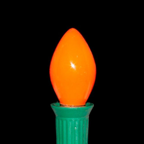 C7 Orange Incandescent Light Bulbs | Opaque Ceramic
