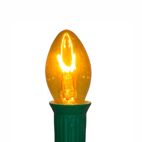 C7 Yellow Incandescent Light Bulbs | Transparent