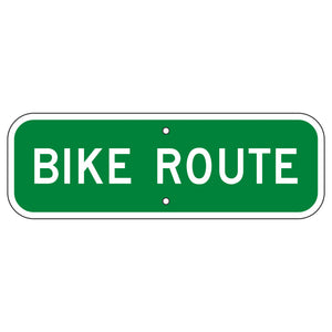 D11-1B Bike Route Sign