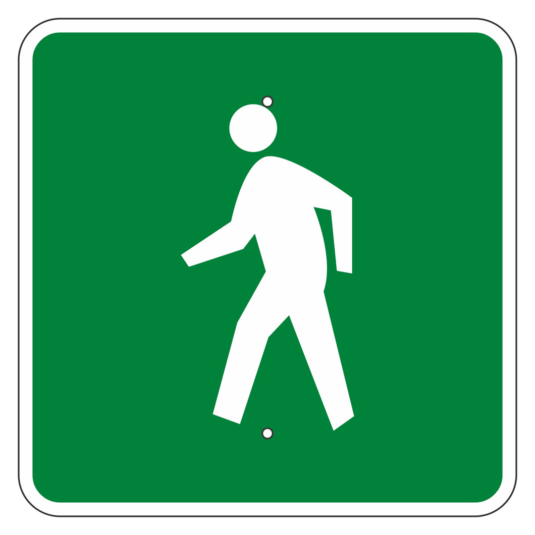 D11-2 Pedestrians Permitted Sign
