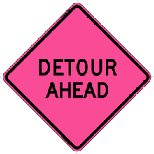 Load image into Gallery viewer, W20-2 Detour Ahead - Roll Up Sign