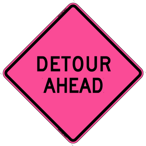 W20-2 Detour Ahead - Roll Up Sign