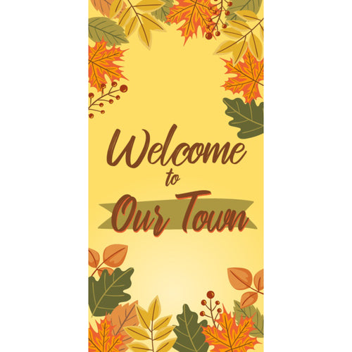 FALL-002 Fall/Autumn Pole Banner