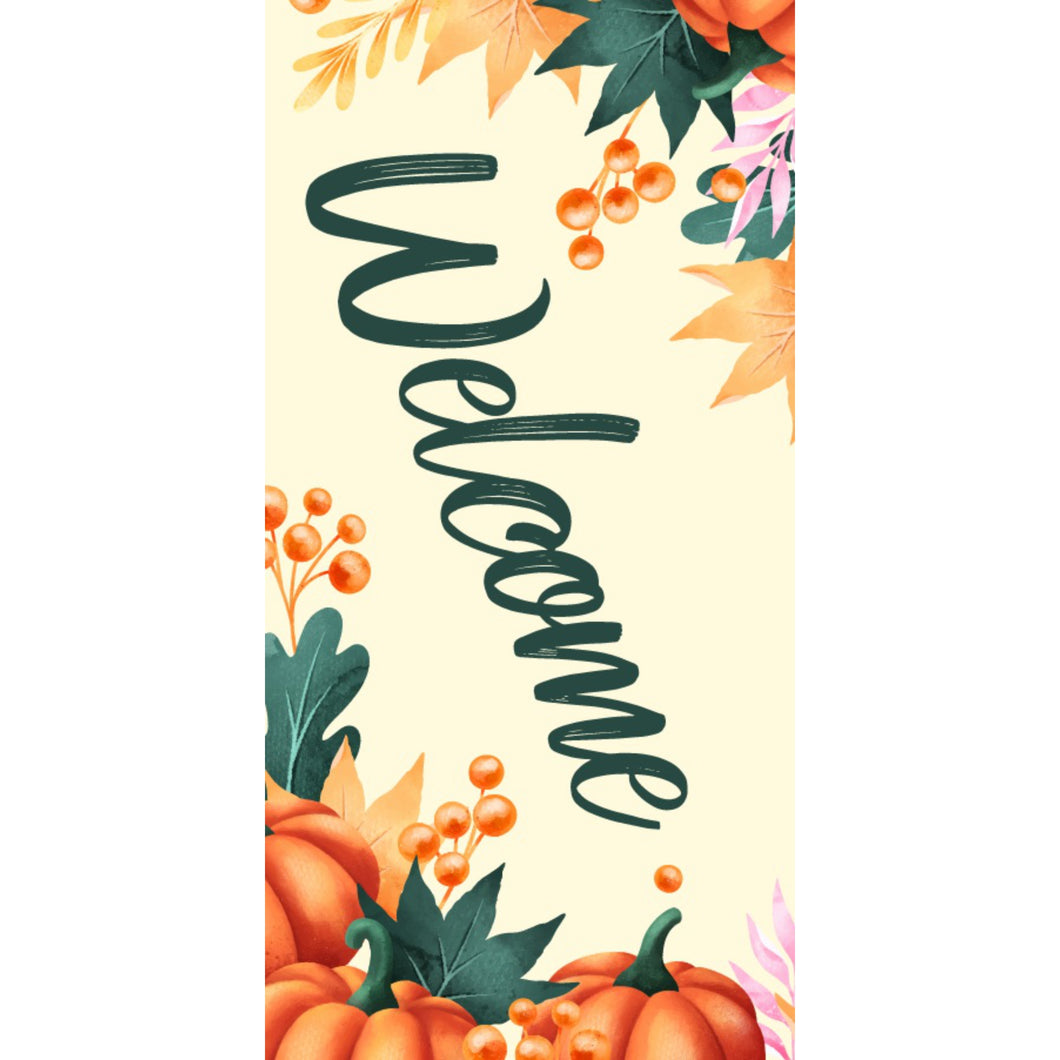 FALL-008 Fall/Autumn Pole Banner