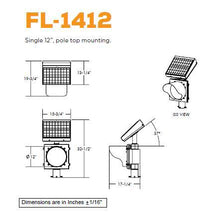 Load image into Gallery viewer, Single, Pole-Top Mounting Flashing Beacon | FL-1412