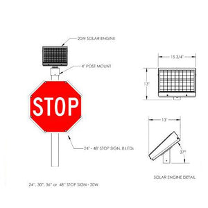 LED-Embedded Stop Sign | FL-5800