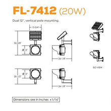 Load image into Gallery viewer, Dual, Vertical Pole Mounting Flashing Beacon | FL-7412