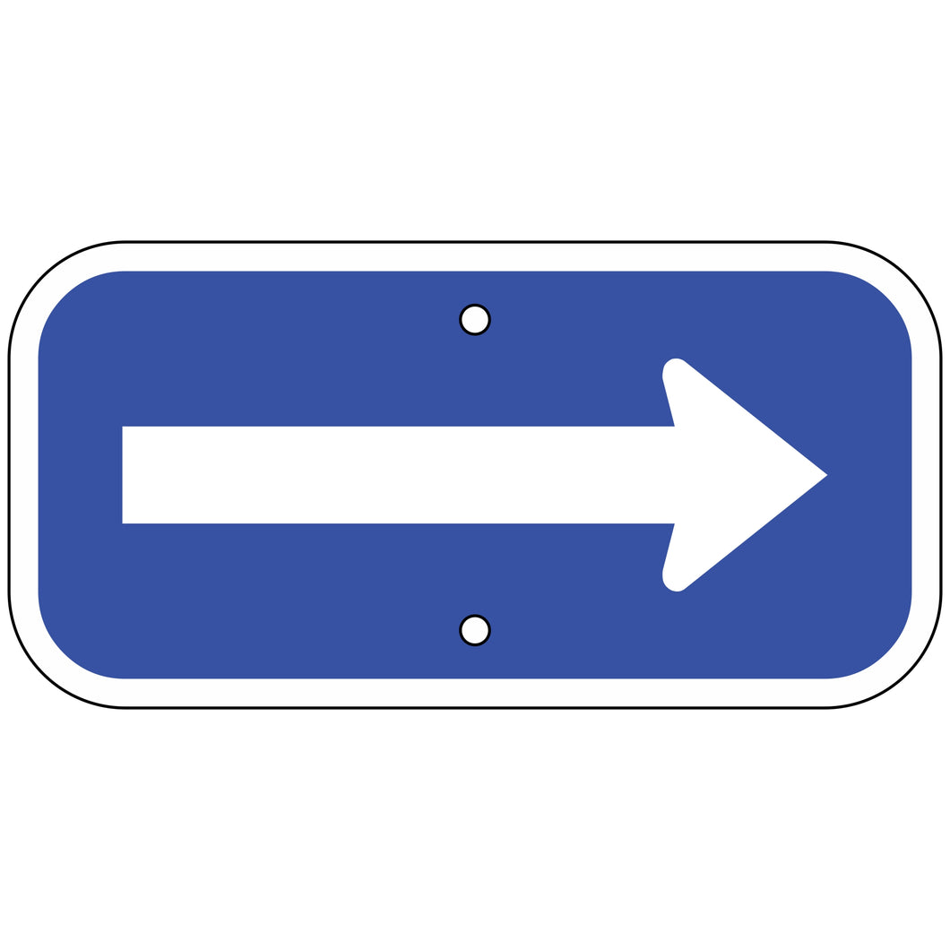 G-62BL Arrow Sign