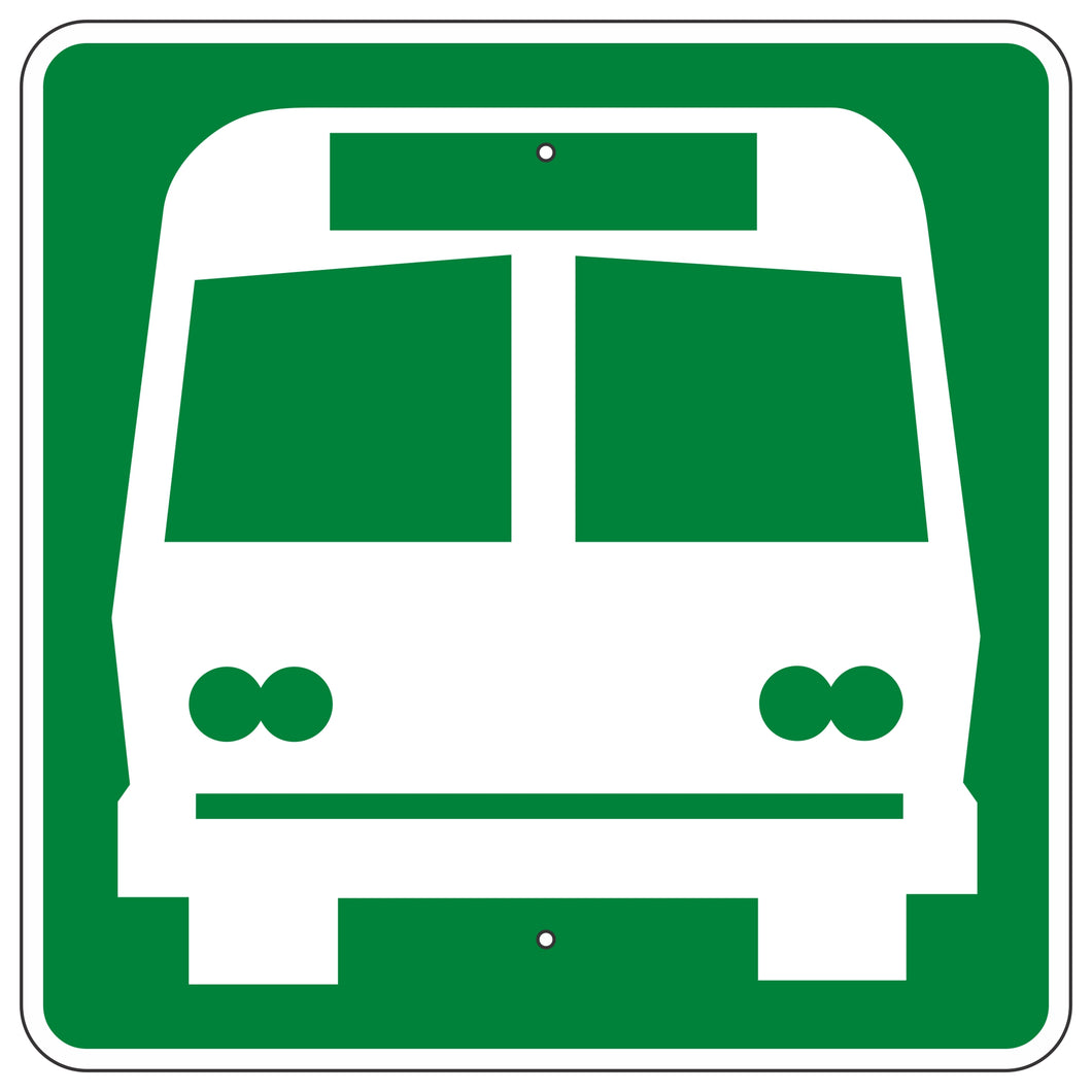 I-6 Bus Station Sign