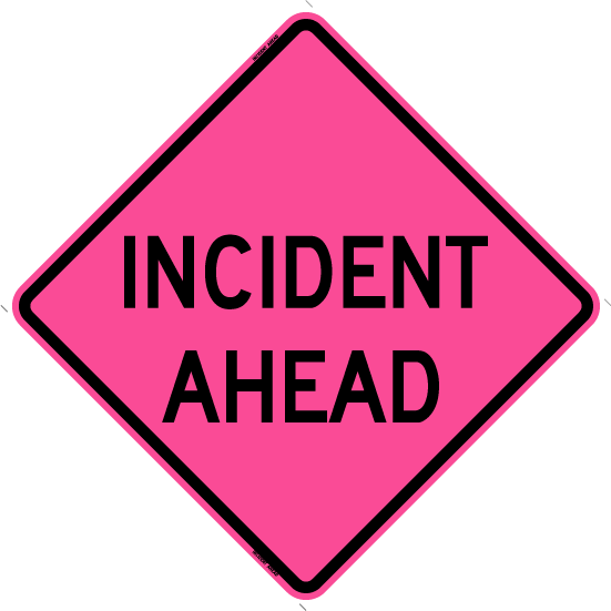 Incident Ahead (Roll Up Sign)