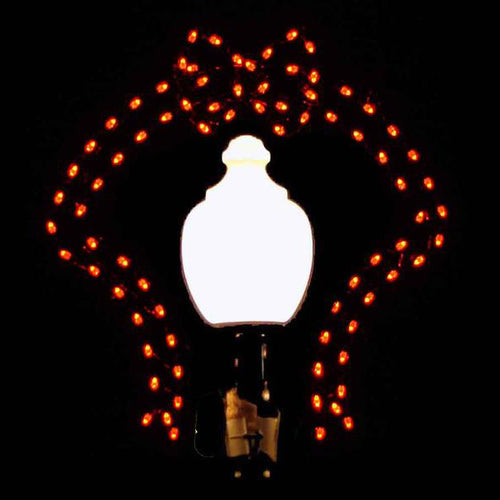 4 1/2' Bow - Silhouette Lamppost Decoration