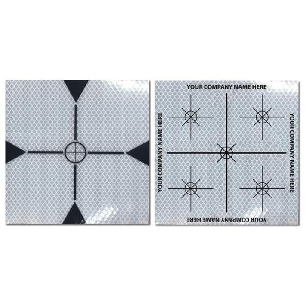 Self Adhesive Laser Survey Targets - White
