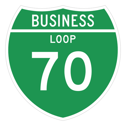 M1-2 Off-Interstate Route Sign (1 or 2 Digits) Business Loop
