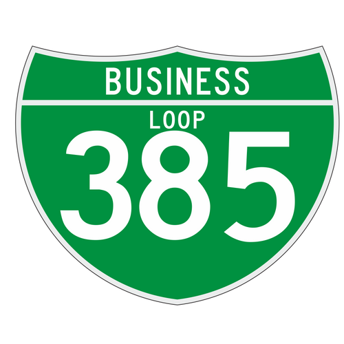 M1-2 Off-Interstate Route Sign (3 Digit) Business Loop