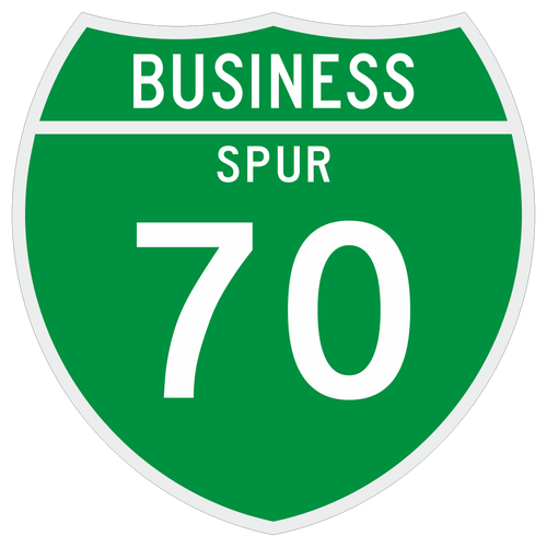 M1-3 Off-Interstate Route Sign (1 or 2 Digits) Business Spur