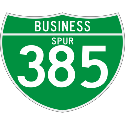 M1-3 Off-Interstate Route Sign (3 Digits) Business Spur