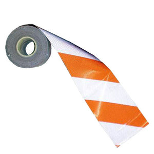 "Barricade Sheeting - Orange/White - 6"" x 50yd Roll"