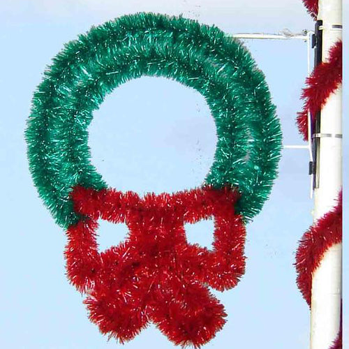 4' Garland Wreath - Pole Mount Decoration