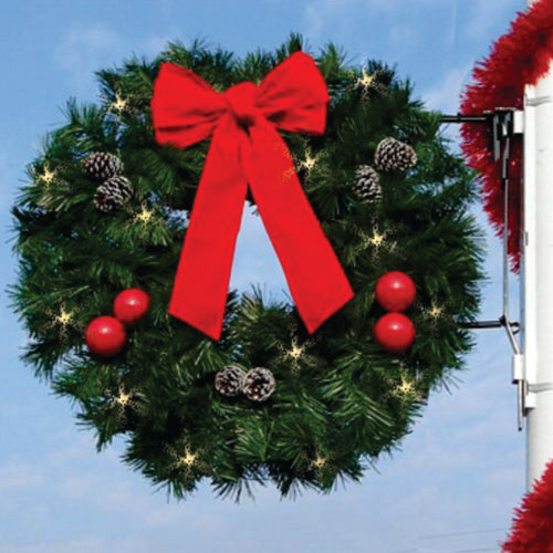 3' Natural Garland Wreath - Pole Mount Decoration