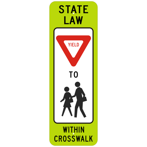 R1-6B Yield Pedestrian Crosswalk Sign