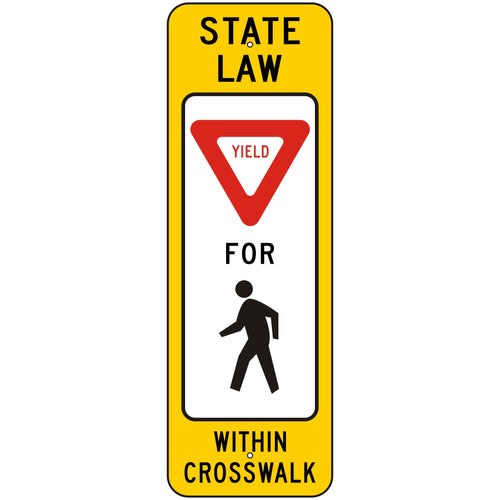 R1-6 Yield Pedestrian Crosswalk Sign