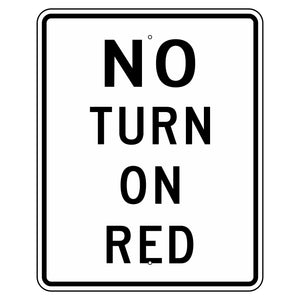 R10-11A No Turn On Red Sign