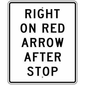 R10-17A Right On Red Arrow After Stop Sign