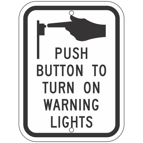 R10-25 Bicyclists Push Button to Turn on Warning Lights Sign