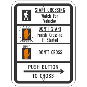 R10-3B Pedestrian Traffic Signal Sign