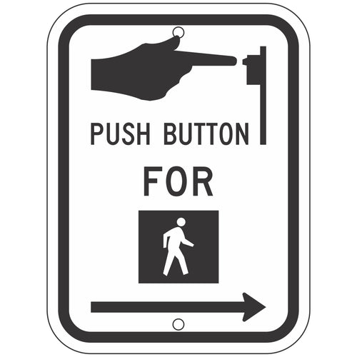 R10-3 Push Button for Pedestrian Crossing Sign