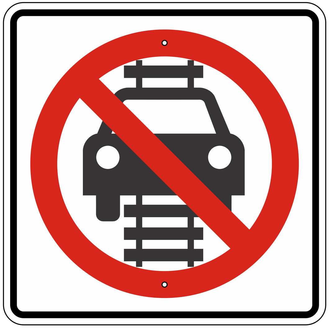 R15-6 Do Not Drive On Tracks Sign
