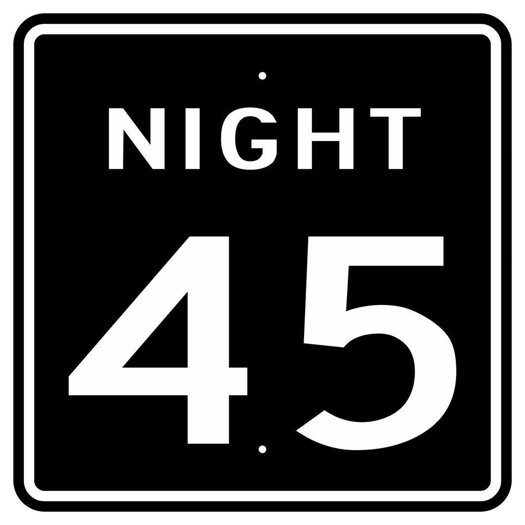 R2-3P Night Speed Limit (Plaque) Sign