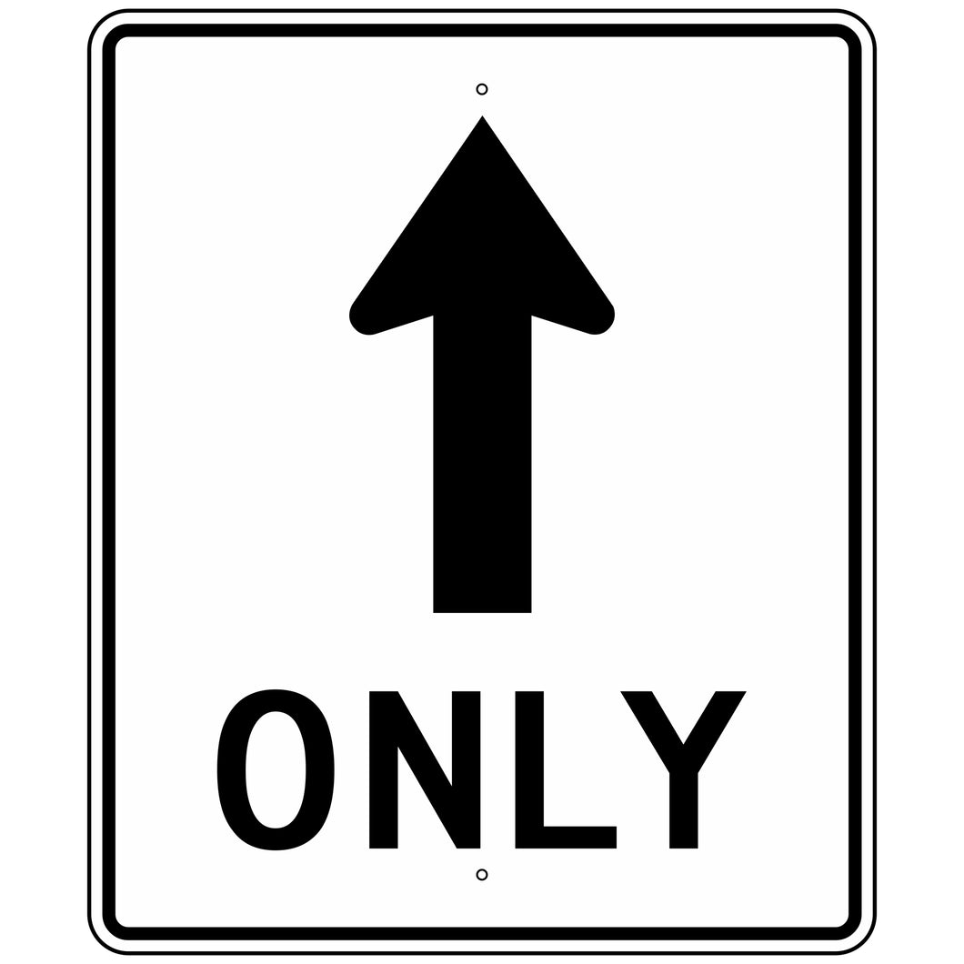 R3-5A Mandatory Movement Lane Control Sign