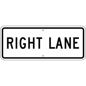 R3-5FP Right Lane (Plaque) Sign