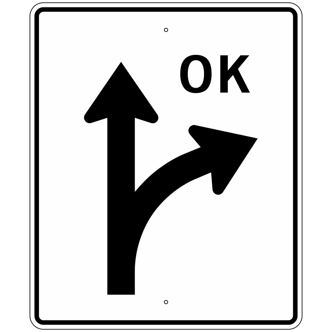 R3-6R ALT Optional Movement Right Sign